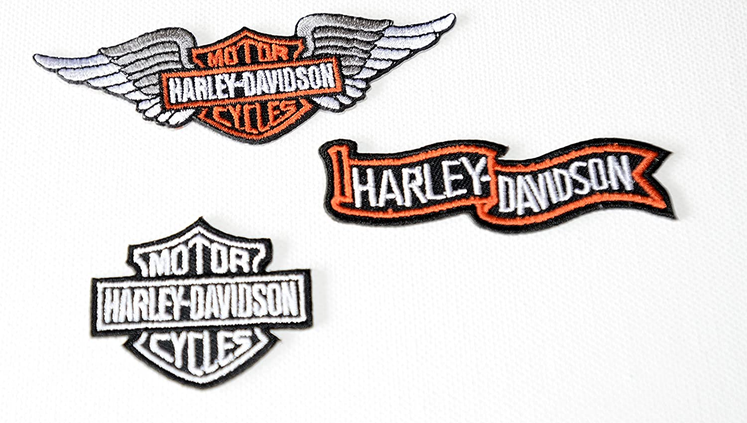 Harley Davidson Iron On Patch Born to be Wild Harley Davidson Motor Cycles Sent from u.k Next Day Delivery .Sold by Deal from Home