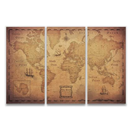 Amazon.com: Conquest Maps Map with Pins - World Travel Map Golden ...