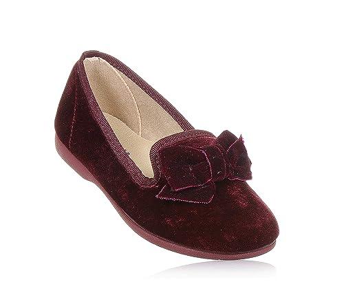 vari stili colori delicati cerca genuino Batilas - Ballerina Bordeaux in Velluto, Made in Spain, con ...