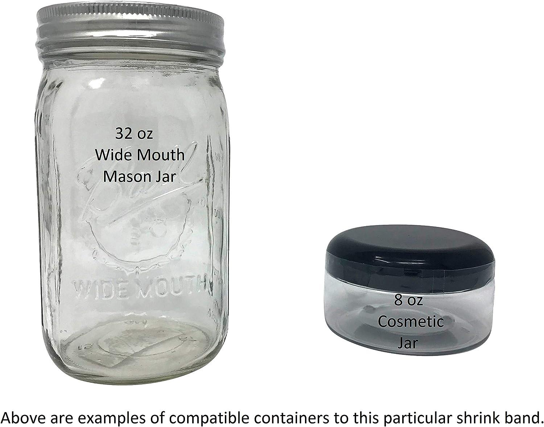molte misure diverse A Confezione da 250 trasparente . 30 x 28 Fits fascia termorestringente forata per sigillare bottiglie Manomper 13mm confezione da 250