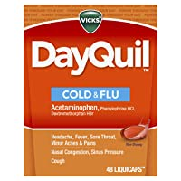 Vicks DayQuil Cold and Flu Multi-Symptom Relief, 48 LiquiCaps (Non-Drowsy) - Sore...