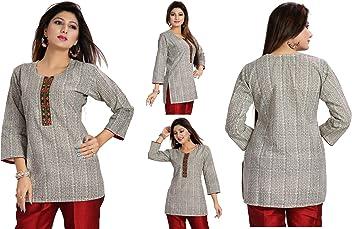 Women Fashion Fancy Indian Kurti Tunic Kurta Top Shirt Dress MM97