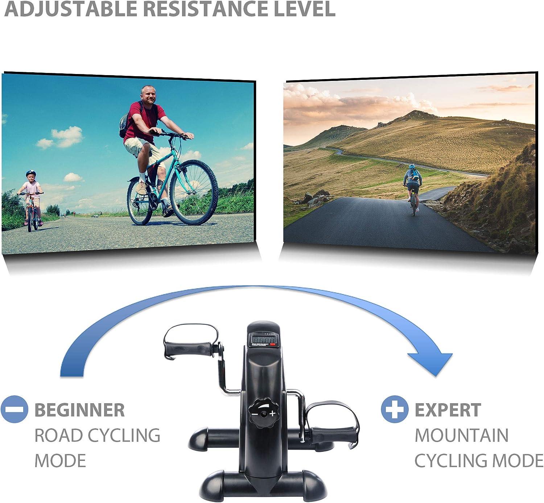 Ultrasport Minibicicleta doméstica, pedalina, ejercitador de ...