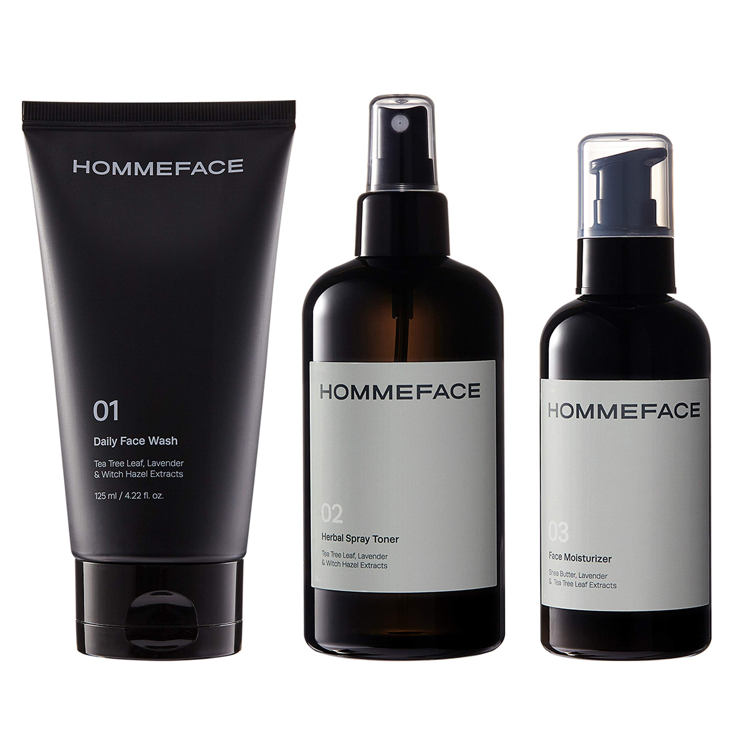 HOMMEFACE Daily Trio Skin Care Set for Men, 3-Step Routine by HommeFace