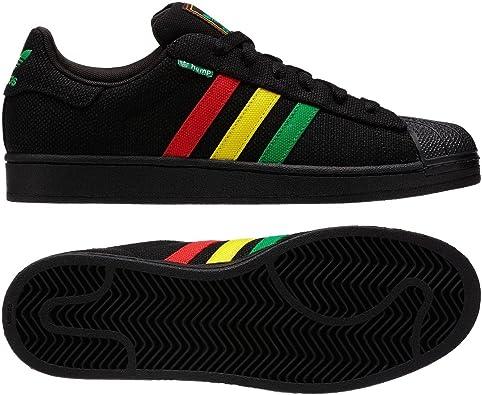 Chaleco pasar por alto Sombreado  Amazon.com: adidas Superstar II 2.0 Original Rasta cáñamo g65535 Negro/Rojo/ Amarillo/Verde De Los Hombres Zapatos, 11 D (M) US: Shoes