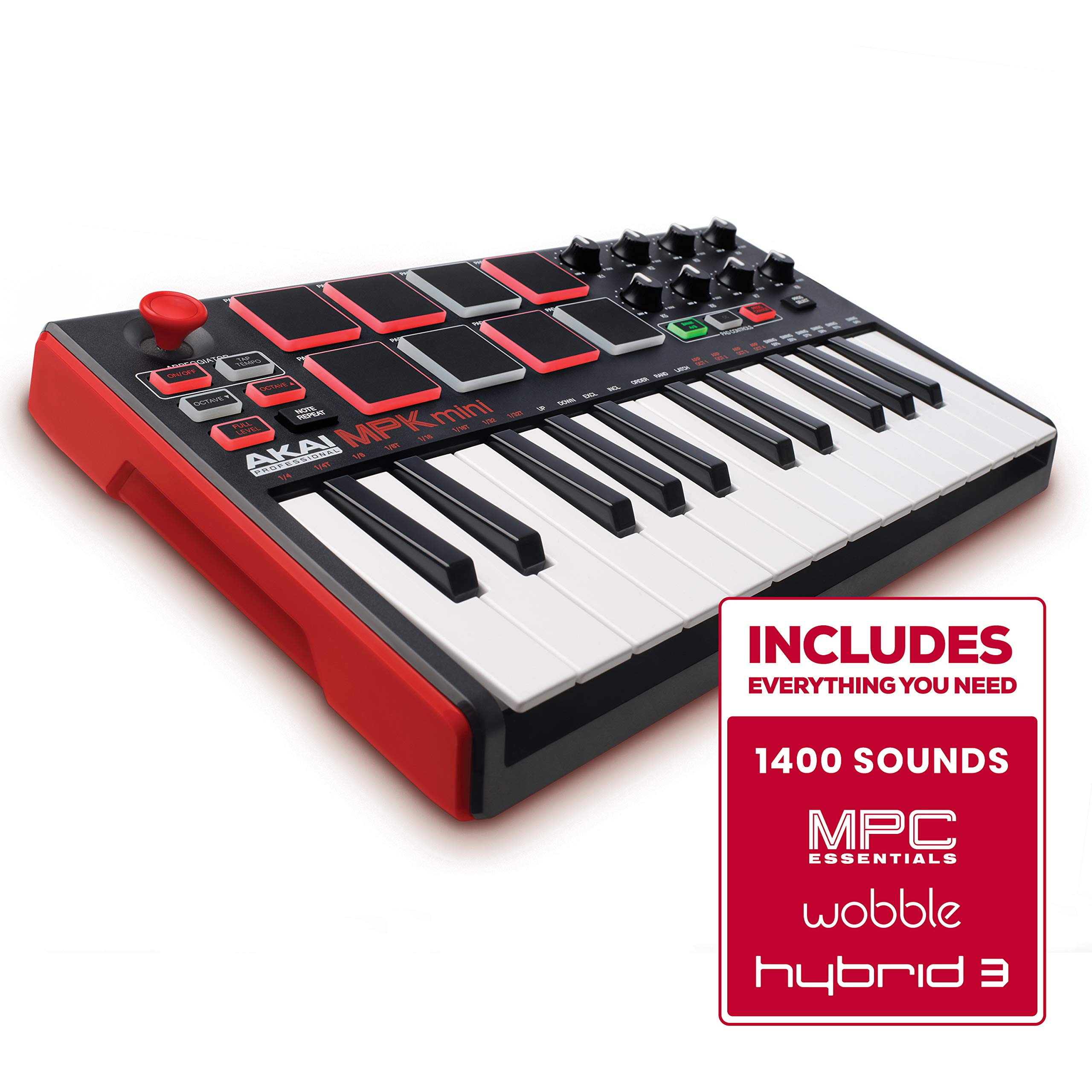 Akai Professional MPK MINI MKII 25-Key Ultra-Portable USB MIDI Keyboard and Pad Controller with Joystick product image