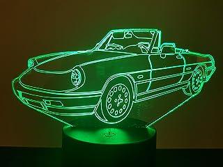 ALFA ROMEO SPIDER, 3D-Lampe LED