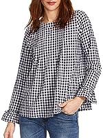 Romwe Women's Cute Blouse Short Sleeve Summer Tunic Top