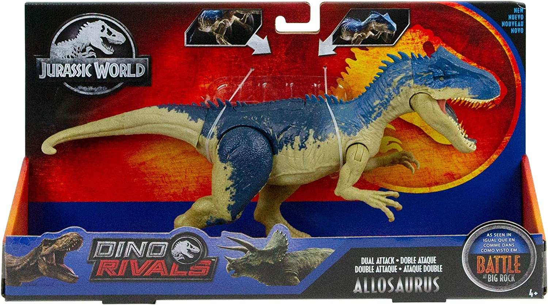 Jurassic World Dino Rivals Dual Attack Allosaurus NEW