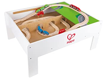 Hape Railway Play and Stow Storage and Activity Table for Wooden Trainsets  sc 1 st  Amazon.com & Amazon.com: Hape Railway Play and Stow Storage and Activity Table ...