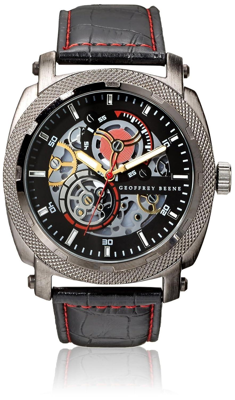 Amazon.com: Geoffrey Beene Mens GB8039GUBK Black/Black Metal Alloy Watch: Watches