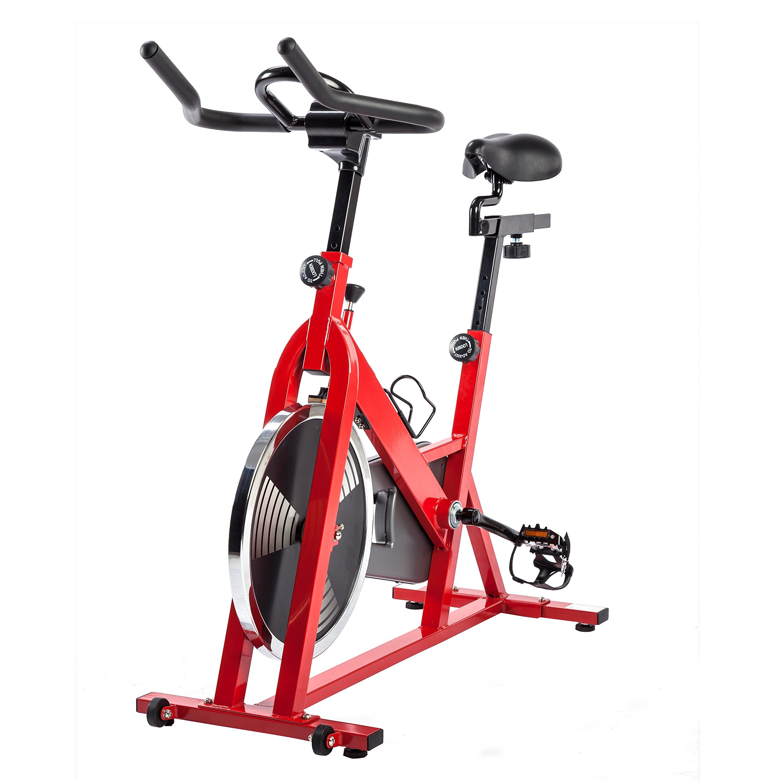 Sunny Health & Fitness SF-B1001 Indoor Cycling Bike, Red by Sunny Health & Fitness (Image #10)