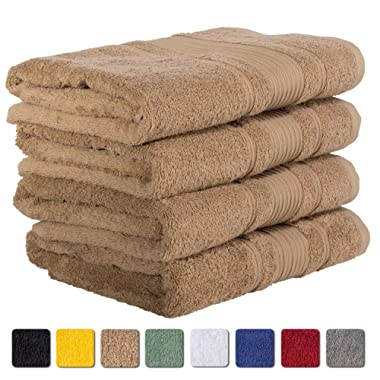 4-Piece Bath Towels SET Affordable Premium Quality 100% Turkish Cotton | Taupe Brown