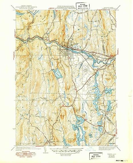 Topographic Map Massachusetts.Amazon Com Yellowmaps Orange Ma Topo Map 1 31680 Scale 7 5 X 7 5