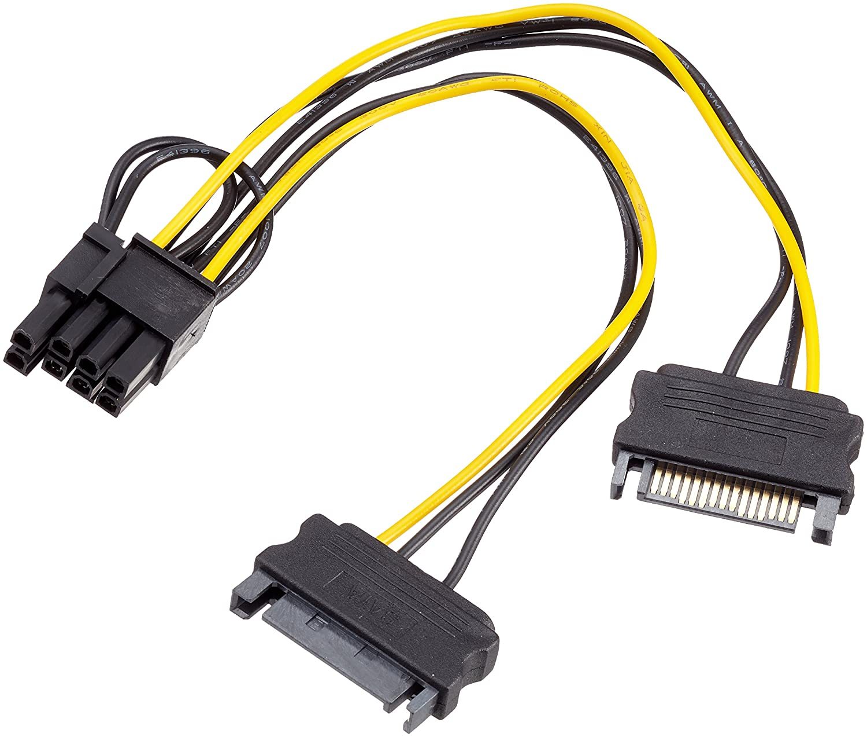 adaptare 35109 Grafikkarten-Stromkabel 2-mal SATA-Strom: Amazon.de ...