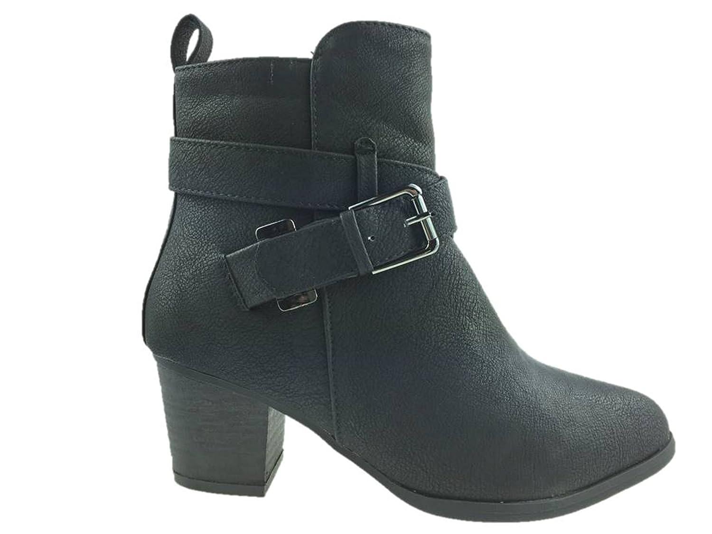 Primark - botas estilo motero chica mujer , color negro, talla 35.5: Amazon.es: Zapatos y complementos