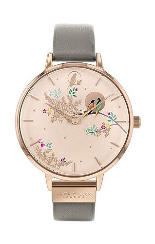 Sara Miller Chelsea Collection SA2004 - Reloj con Correa de Piel chapada en Oro Rosa: Amazon.es: Relojes