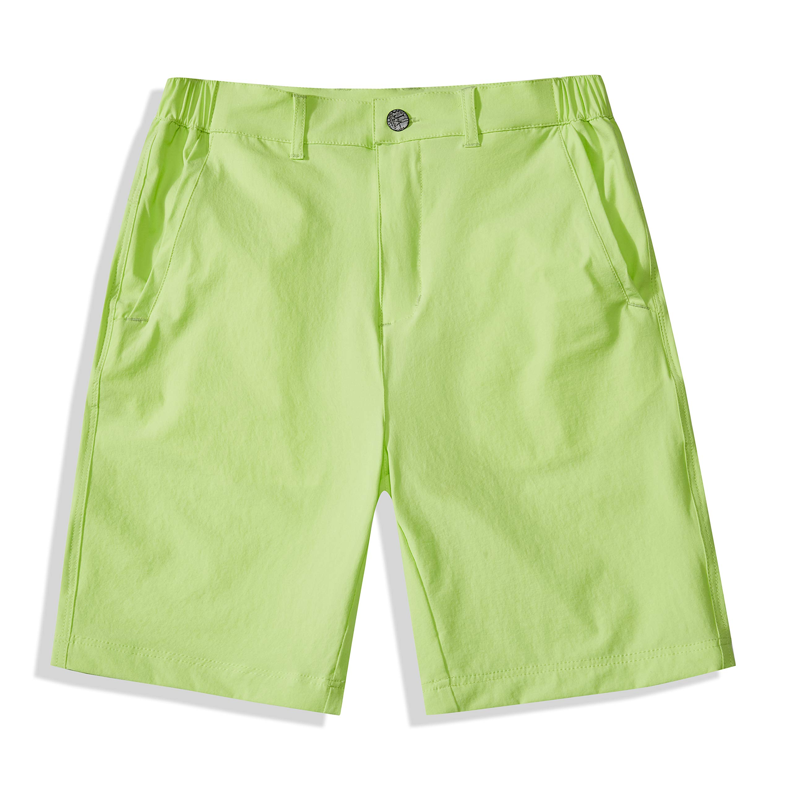 BASADINA Boys Shorts Quick Dry Outdoor Casual Shorts with Moisture Wicking Solid Green by BASADINA