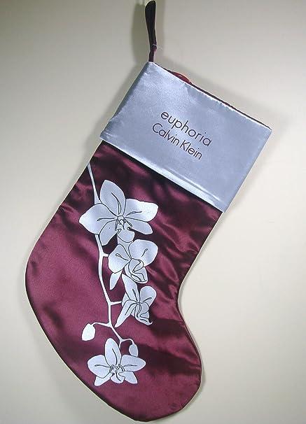 Calvin Klein Euphoria Perfume calcetín de Navidad de vacaciones, satén: Amazon.es: Belleza