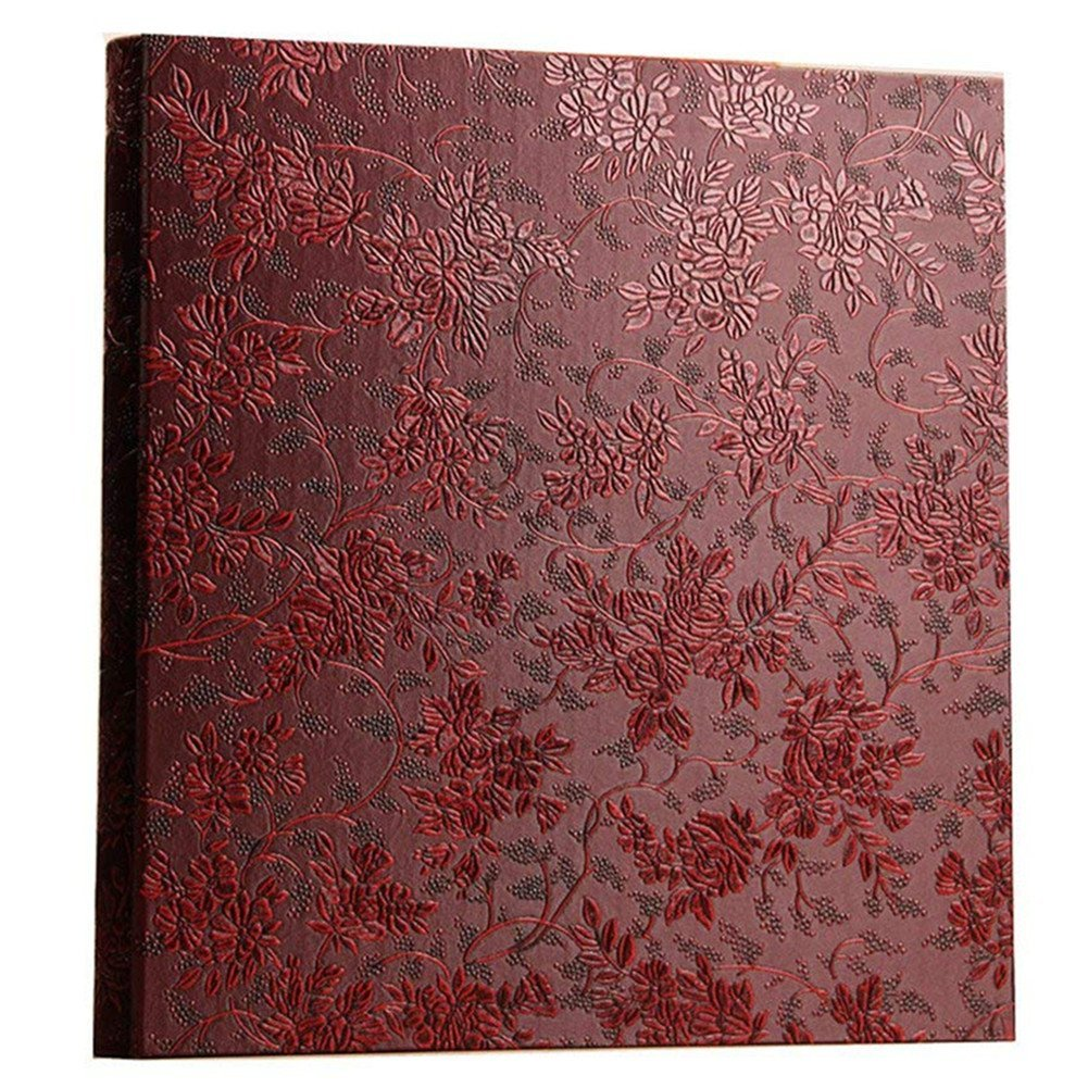 Ksmxos Frame Cover Photo Album 600 Pockets Holds 4x6 Photos Red