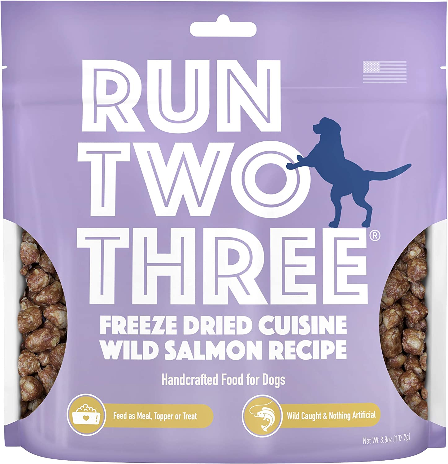 Run Two Three Freeze Dried Cuisine Recipe - Raw Dog Food, Dog Food Topper or Dog Treats, Ultra Premium Quality, All Natural, Few Ingredients, High Energy Proteins, Balanced Nutrition, Made in The USA