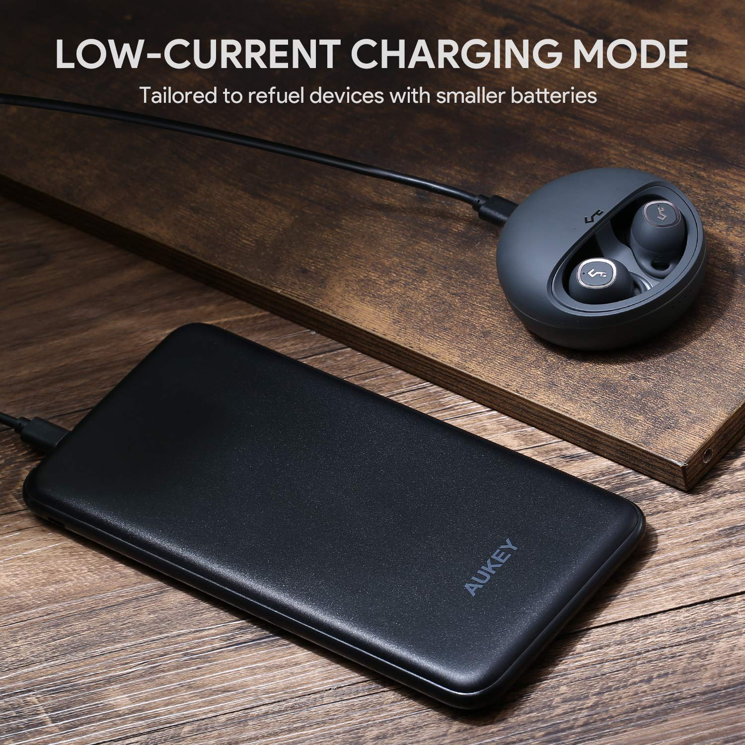 AUKEY Power Delivery Power Bank 20000mAh, USB C Portable Charger with 18W PD and Quick Charge 3.0 Battery Pack, Compatible iPhone Xs/XR/XS Max, ...