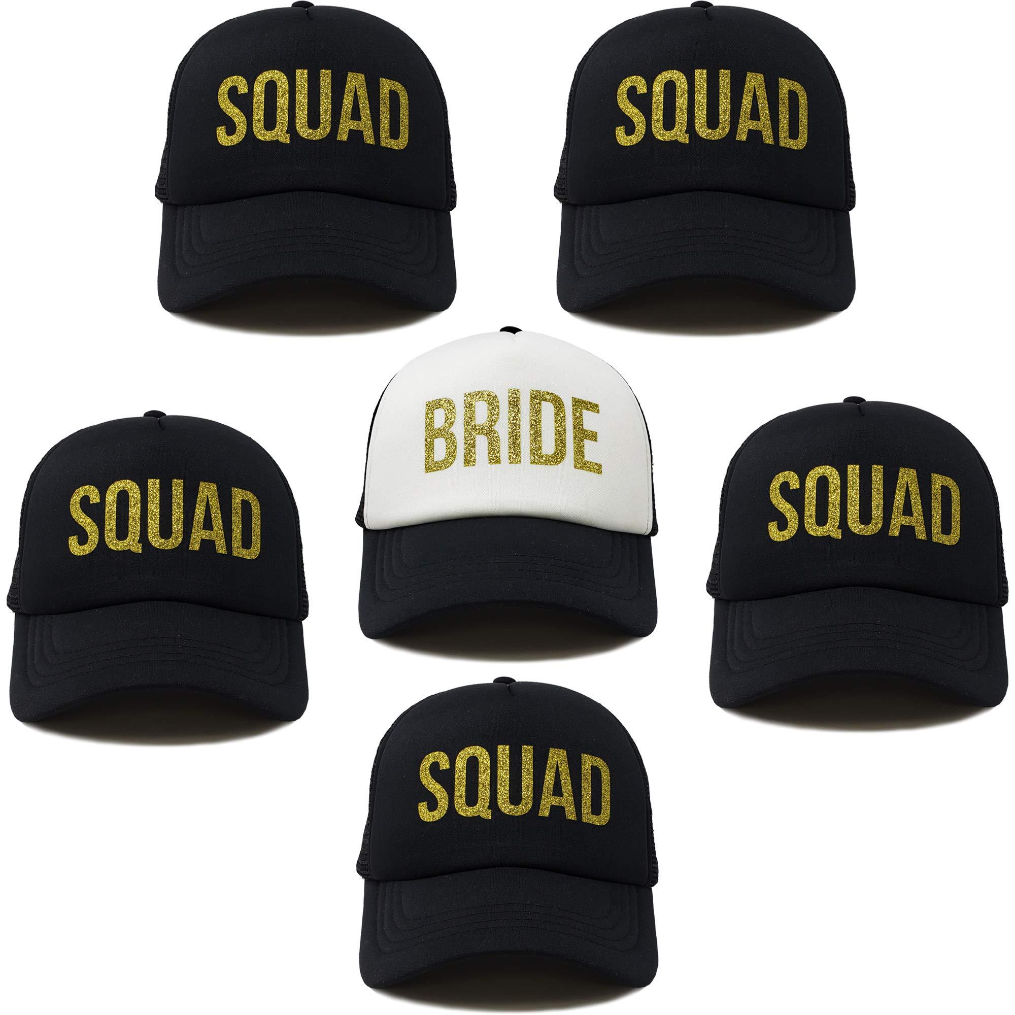 BH-204-6-B0902.5S0602 Bridal Trucker Hat Bundle - 1 Bride, 5 Squads
