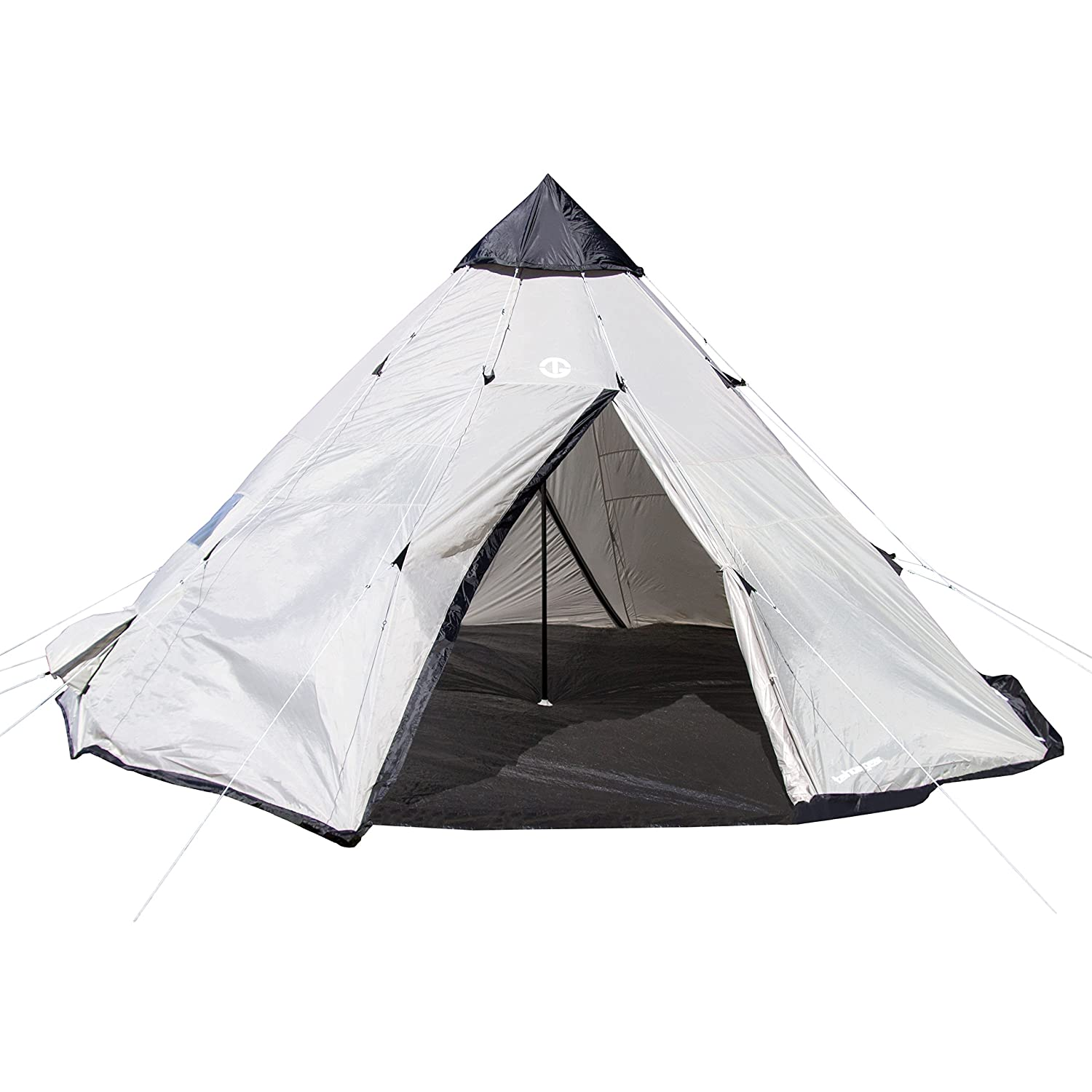 Amazon.com  Tahoe Gear Bighorn XL 12-Person 18u0027 x 18u0027 Teepee Cone Shape C&ing Tent  Sports u0026 Outdoors  sc 1 st  Amazon.com : canvas tents ebay - memphite.com