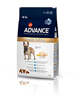 Advance French Bulldog Adult, Comida para perros, carrera de Bulldog francés adulto, 9Kg