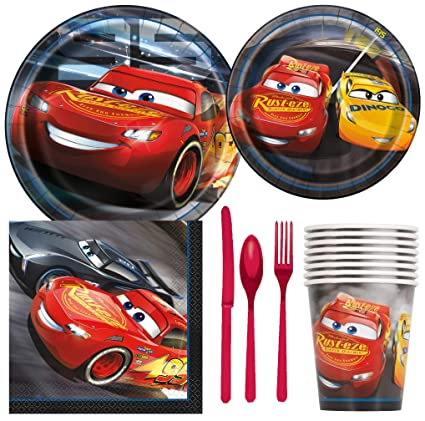 Amazon.com: Disney Cars - Pack de 3 suministros para fiestas ...