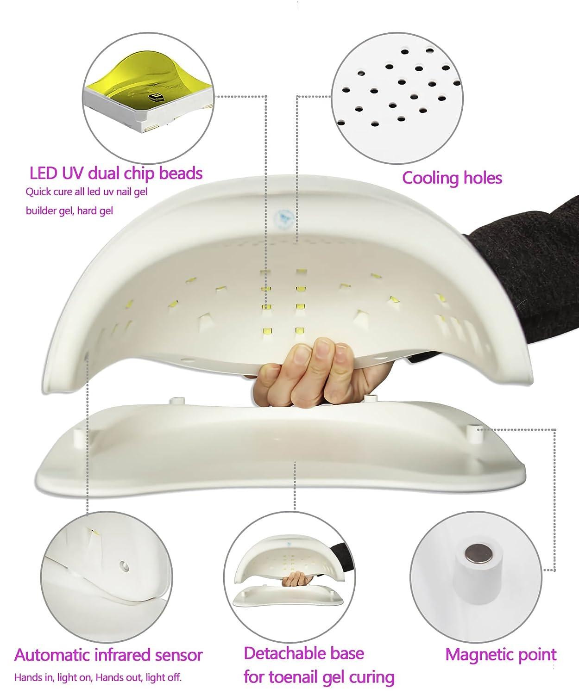Amazon 48w Gel Nail Lamp Professional Uv Led Dryer Curing Lamp