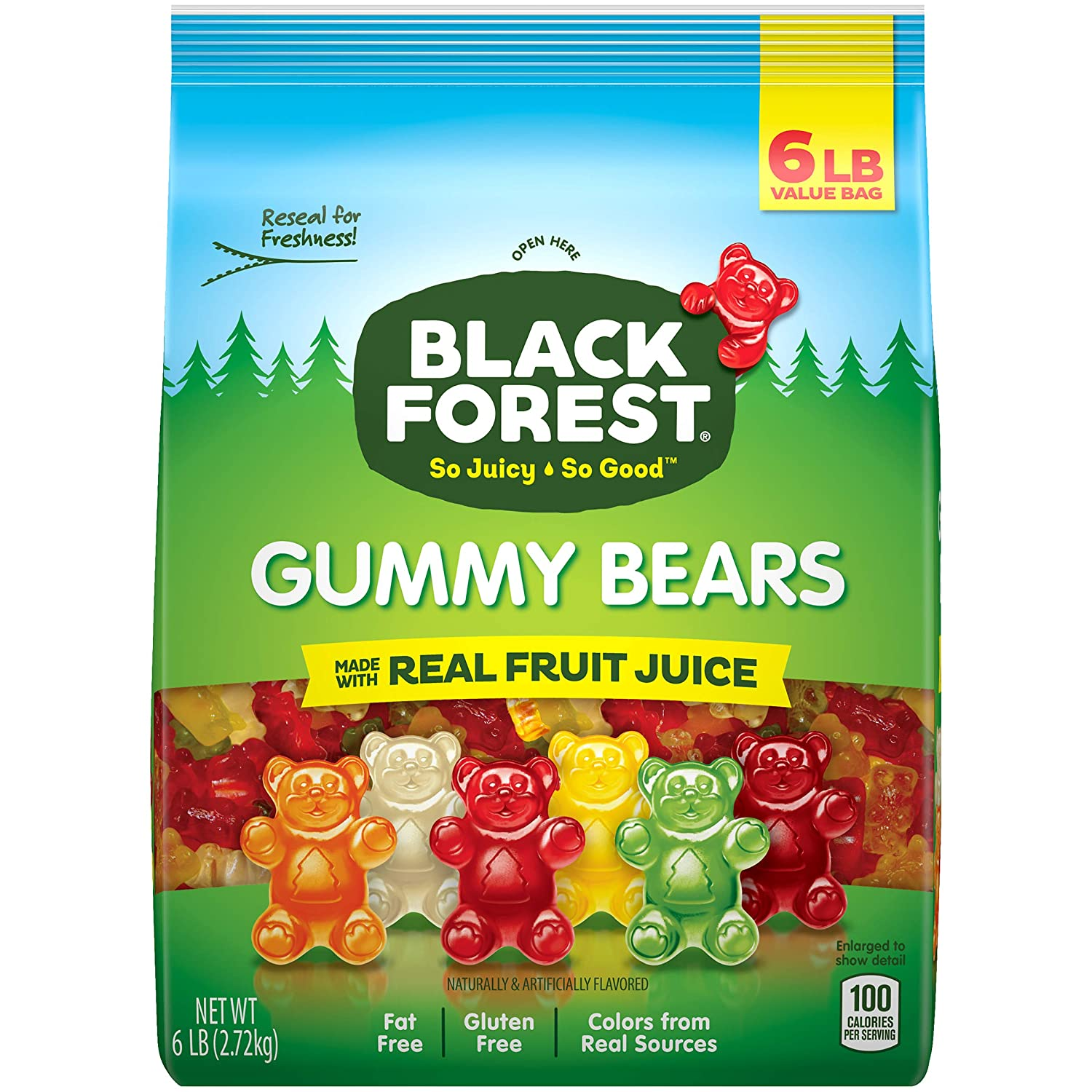 Black Forest Gummy Bears Candy, 6 Lb : Grocery & Gourmet Food