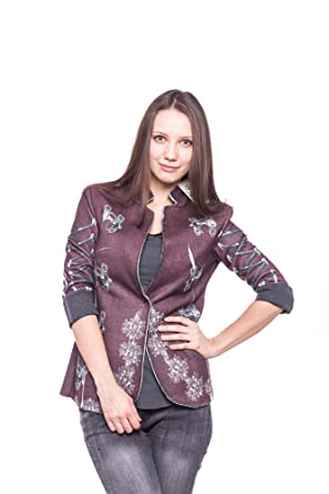 half off f8bb9 d9bdf Abbino 3055 Damen Blazer Sakko Jacke - Made in Italy - 3 ...