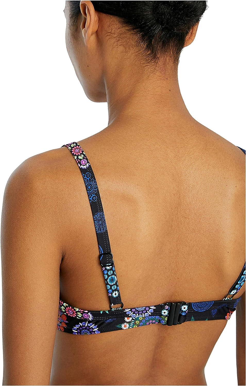 Desigual Womens Swimwear Bandeau Bikini Top