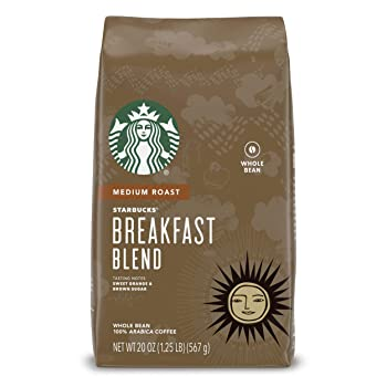 Breakfast Blend Medium Roast Starbucks Coffee Beans