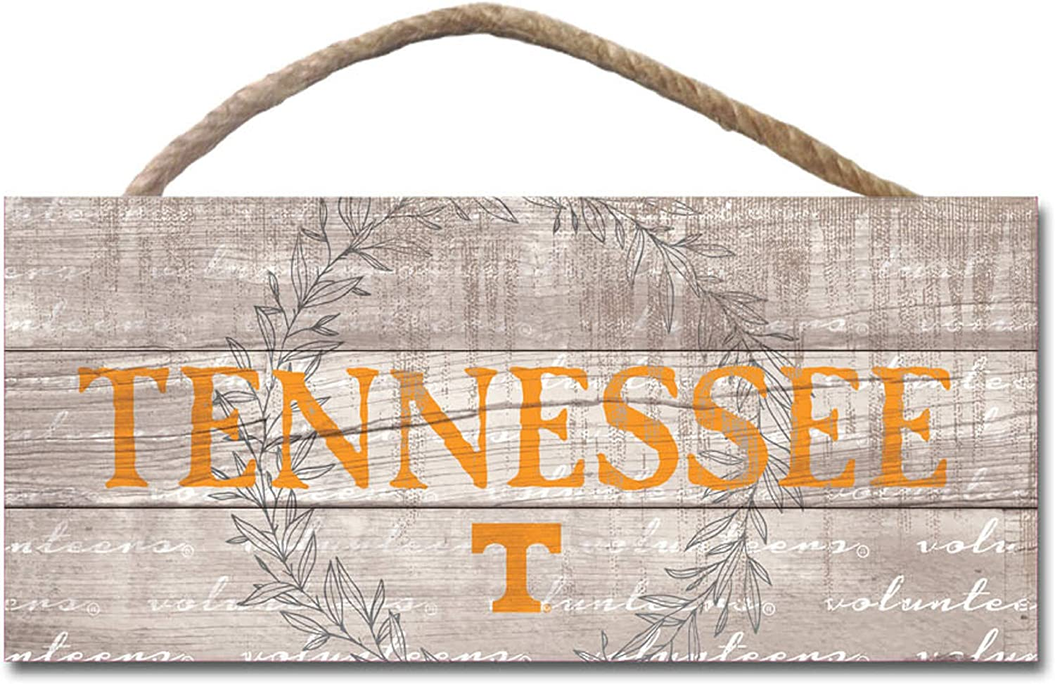 One Size Wood NCAA Legacy Tennessee Volunteers Wood Plank Hanging Sign 10x5