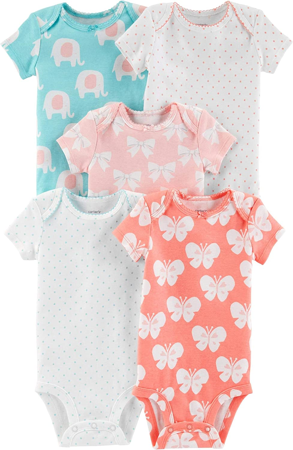 Carters Mix Pack Bodysuits for Baby Girl