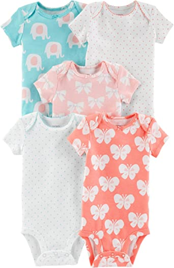 Carters Mix Pack Bodies para bebé niña: Amazon.es: Ropa y accesorios