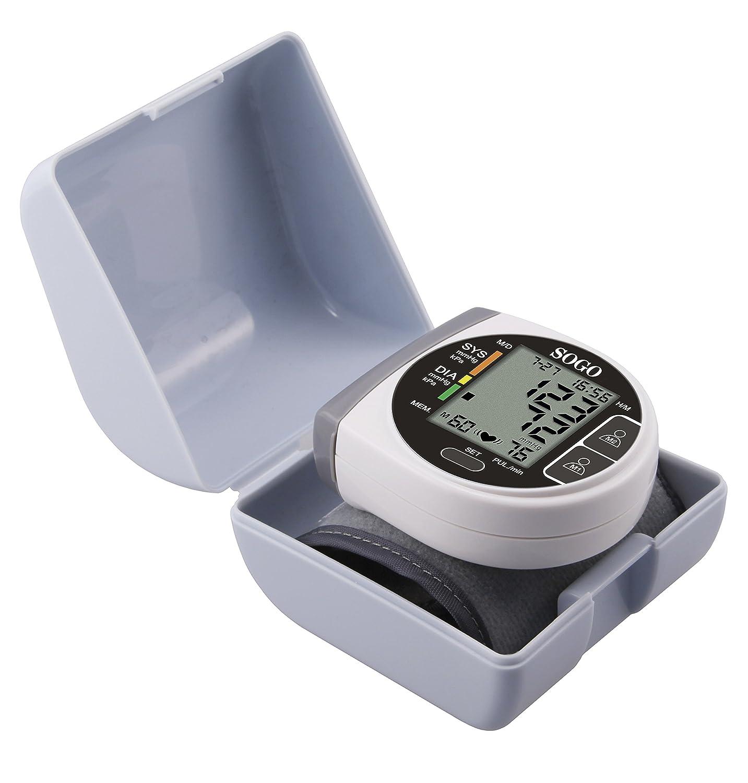 Sogo SS-14020 - Tensiómetro digital de muñeca: Amazon.es: Salud y cuidado personal