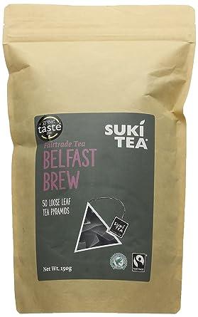 suki tea belfast brew fairtrade pyramids pack of 50 amazon co