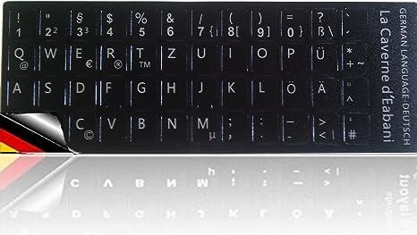 Teclado pegatinas teclado alemán de adhesivos decorativos para ordenador portatil