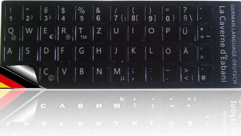 teclado pegatinas en alemán para portátil/ordenador portátil: Amazon.es: Electrónica