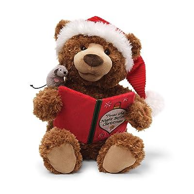 "GUND Storytime Teddy Bear Animated Holiday Stuffed Animal Plush, 13"": Toys & Games"