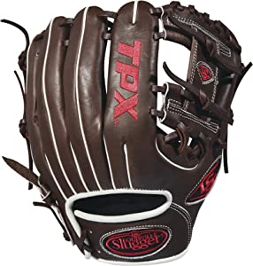 """Louisville Slugger 2018 Tpx Infield Baseball Glove - Right Hand Throw Dark Brown/White/Red, 11.25"""""""
