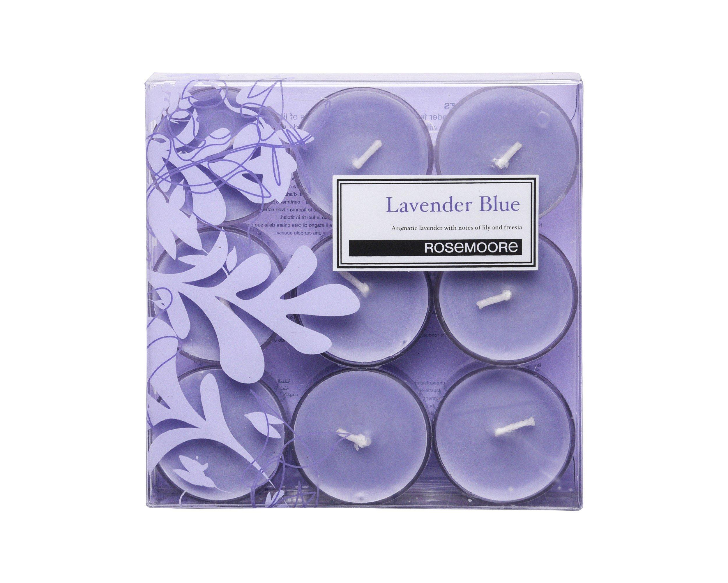Rosemoore Blue Lavender Blue Scented Tea Lights For Living Room, Washroom, Bedroom, Office by Rose and Moore (Image #2)