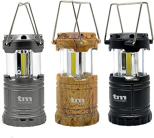 TM Electron TMTOR011KIT 3 linternas COB LED de campamento con 9W ...