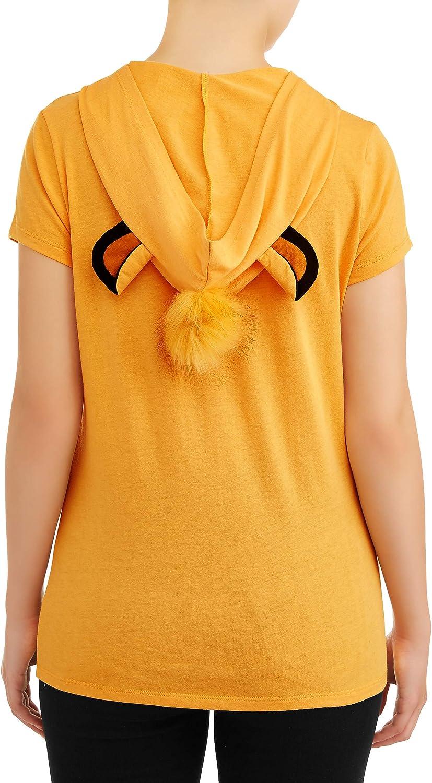 Large 11//13 Disney Lion King Juniors Simba Hooded Tee Shirt