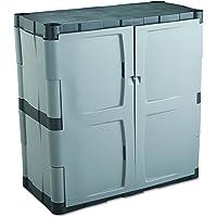 Rubbermaid Commercial 7085 Double-Door Storage Cabinet - Base 36w x 18d x 36h Gray/Black