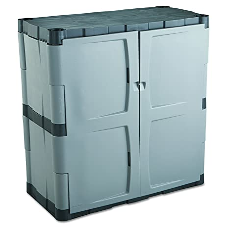 Amazon.com: Rubbermaid Commercial 7085 Double-Door Storage Cabinet ...
