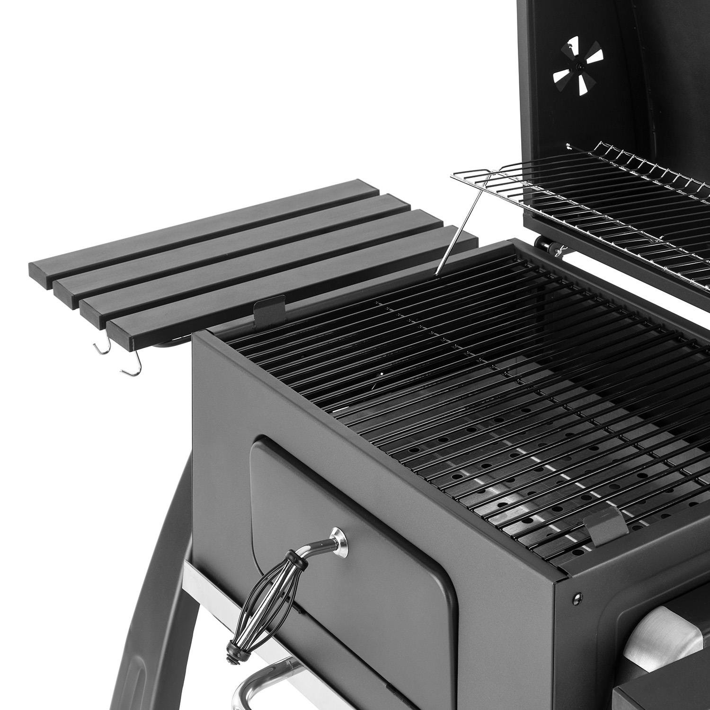 Klarstein Bigfoot Set Parrilla carbón BBQ ahumadero + Encendido eléctrico 350W (Gran Superficie Grill asado, compuerta para Fuego, termómetro Integrado, ...
